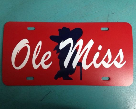 Colonel Reb Ole Miss Livense Plate Can Be By Southerntreasuresms
