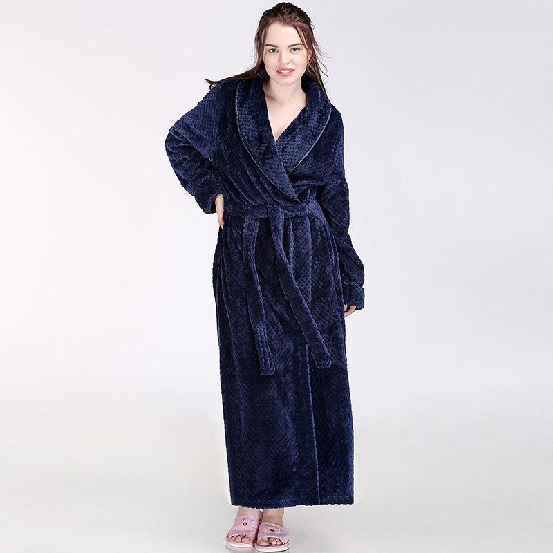 WINTER MEN/'S FLEECE BATH NIGHT-ROBE LONG SLEEPWEAR DRESSSING SOFT HOME COAT PLUS