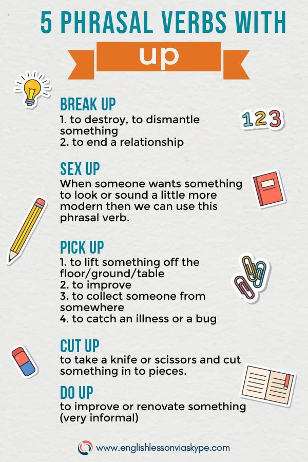 Examples Of Phrasal Verbs With Up And Their Meanings English