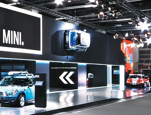 Car Exhibition Stand Design : Public displays of perfection minis exhibitions and