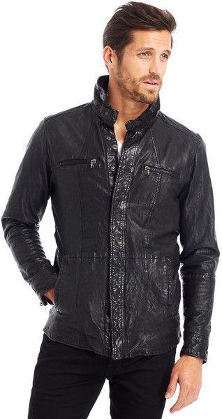 f72146b087 Love this: Dirty Wash Leather Jacket @Lyst | Sar·to·ri·al