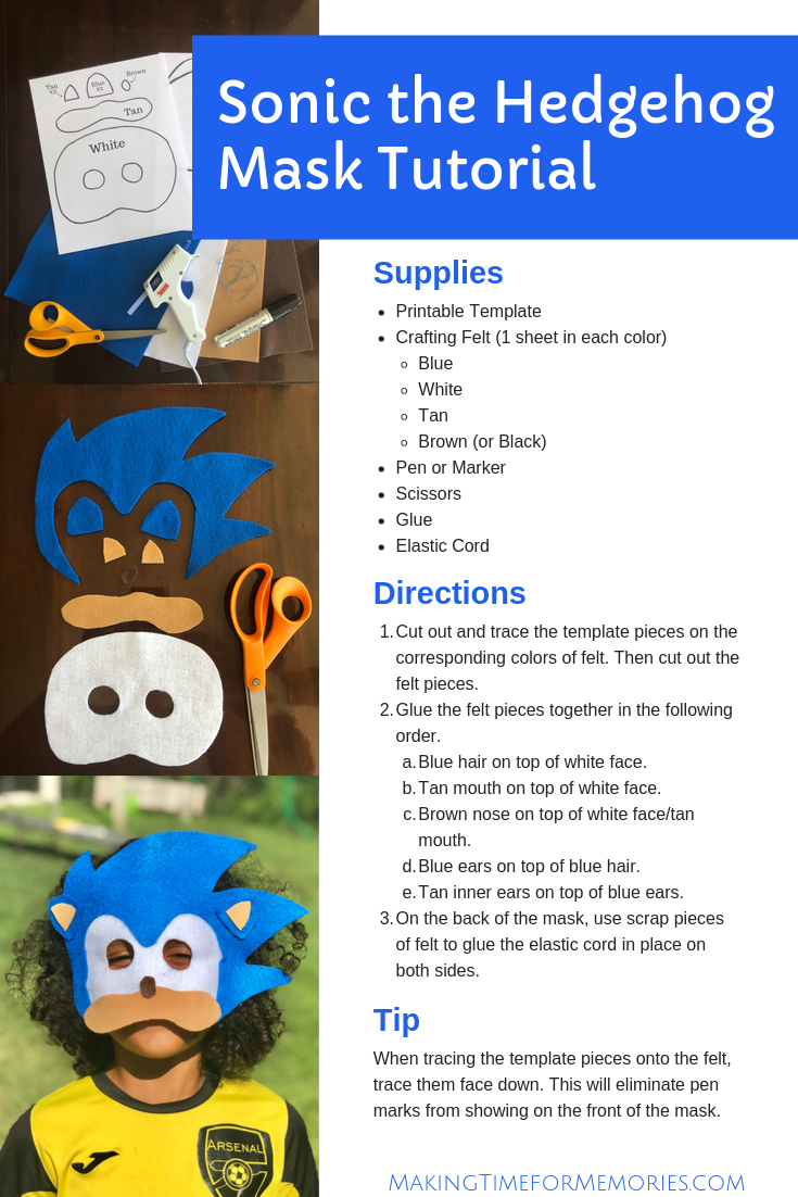 Does Sonic The Hedgehog Live On In Your Childhood Memories Bring Him Out With This Sonic The Hedgehog Mask Template And Tutor Sonic Birthday Sonic Party Sonic