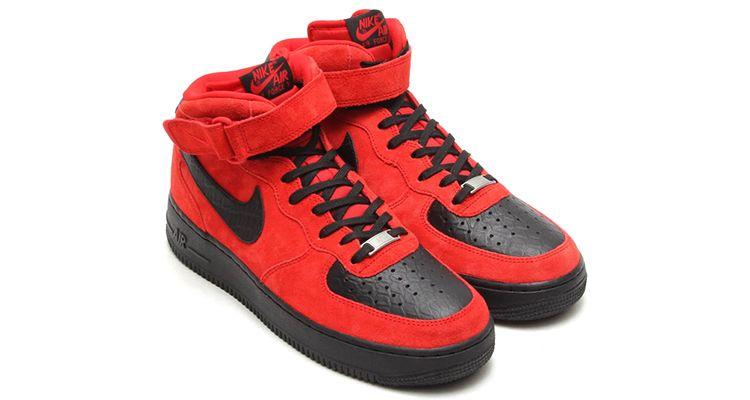 Nike Air Force 1 Mid Red SuedeBlack Python | Nike air