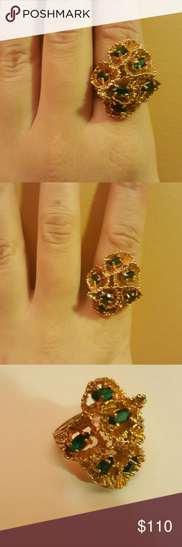 Rare Vintage 18kt Gold Gemstone Ring Gold Gemstone Ring Vintage Jewellery Rings 18kt Gold