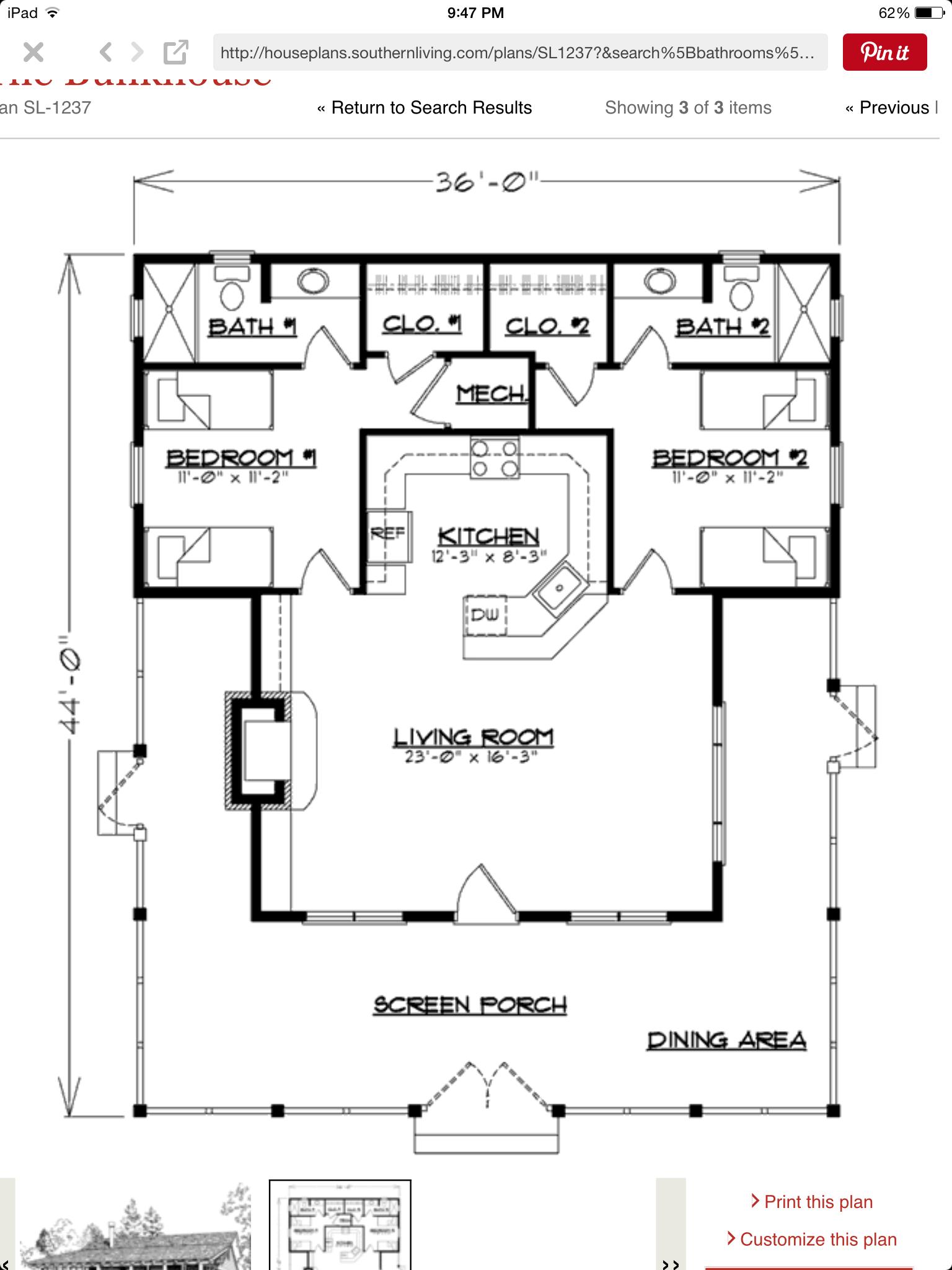 Studio400 Plan D61 400 The House Plan Site Guest House Plans Guest House Small Studio Floor Plans