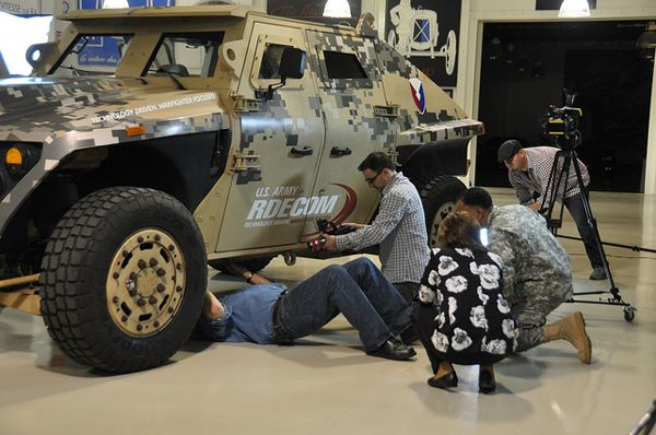 Jay Leno Takes Fuel Efficient Army Vehicle For Spin