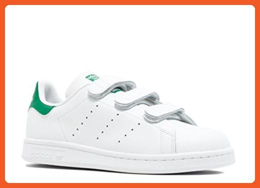 Adidas Stan Smith CF J Hombre Blanco Leather & Synthetic Trainers Blanco Hombre Verde be31da