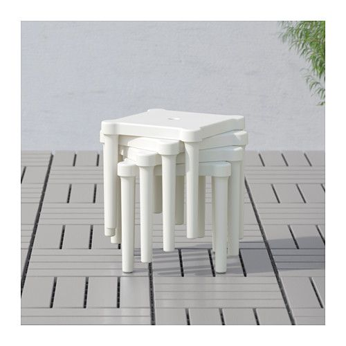 UTTER Childrenu0027s stool, indoor outdoor, white Stools, Room ideas - outdoor küche ikea