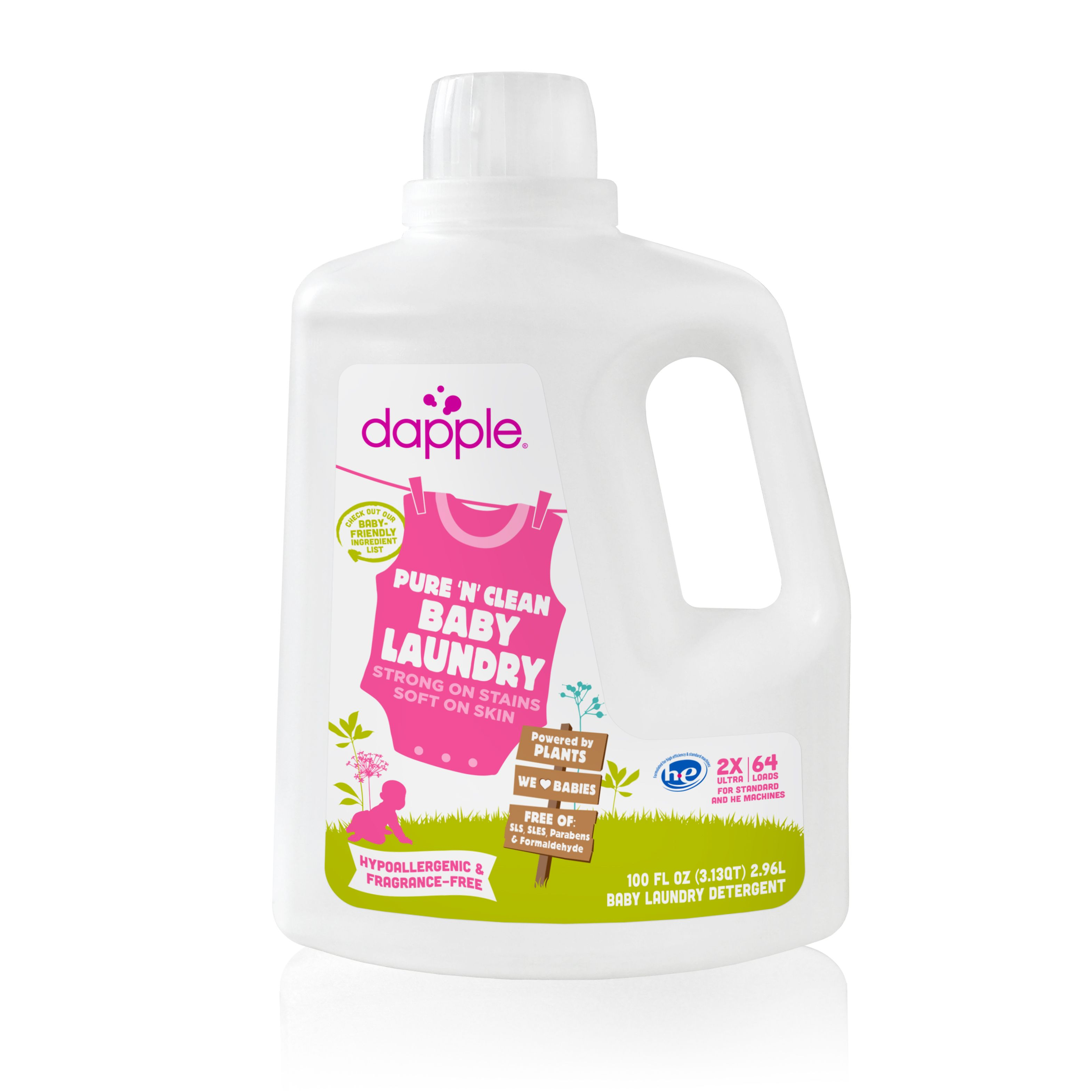 Dapple Laundry Detergent Fragrance Free 100 Oz Baby Laundry