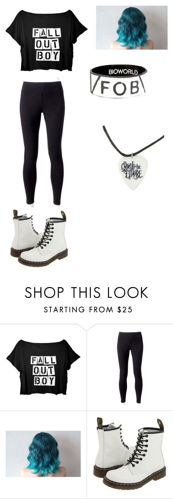 """Fall Out Boy"" by meagannicolebarrett on Polyvore featuring Jockey and Dr. Martens"