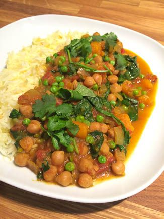 Slow Cooker Recipe: Lower Fat Vegan Butternut Squash and Chickpea Coconut Curry — Low Fat Vegan Chef Recipes