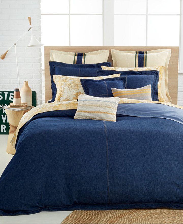 Tommy Hilfiger Rag Rug Cream 18 Square Decorative Pillow Bedding Camas Colchas Para Cama Alcoba