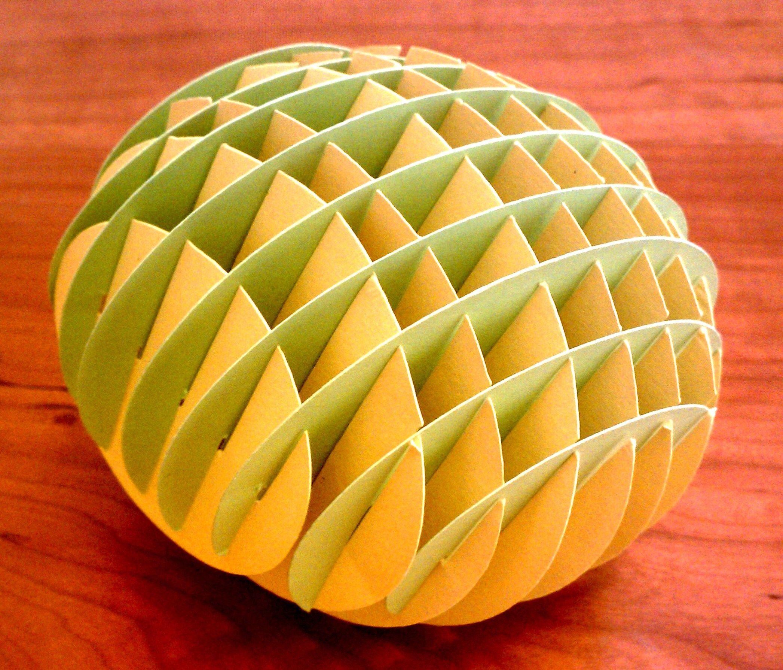 Sliceform sphere   Paper Crafts   Pinterest   Sliceform ... - photo#39