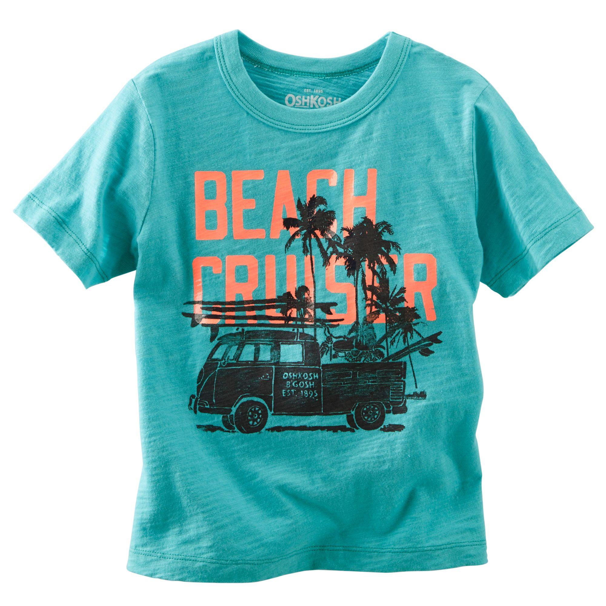 Gymboree Baby Boys Toddler Short Sleeve Travel Print Tee