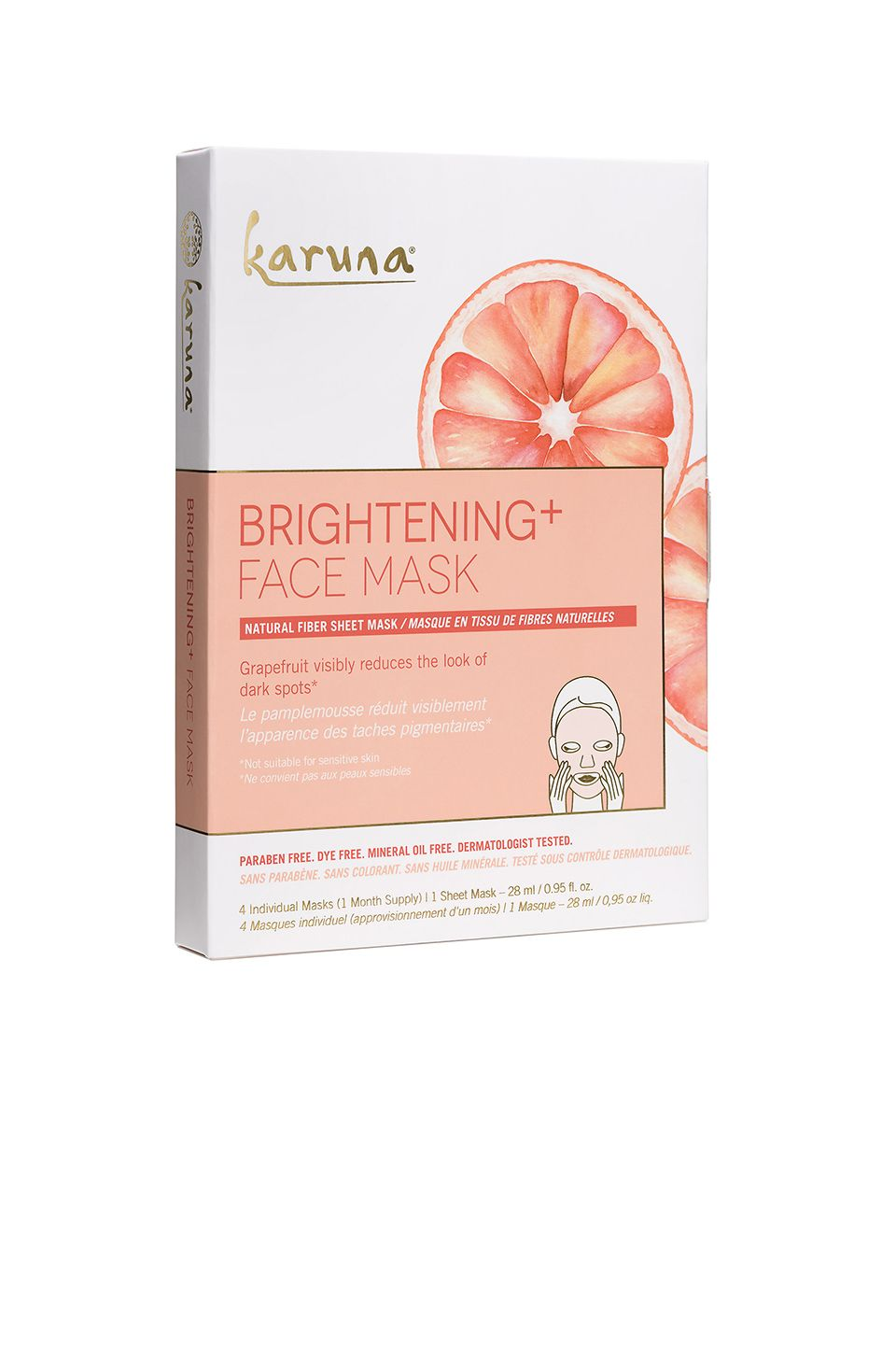 Karuna Brightening Mask 4 Pack in