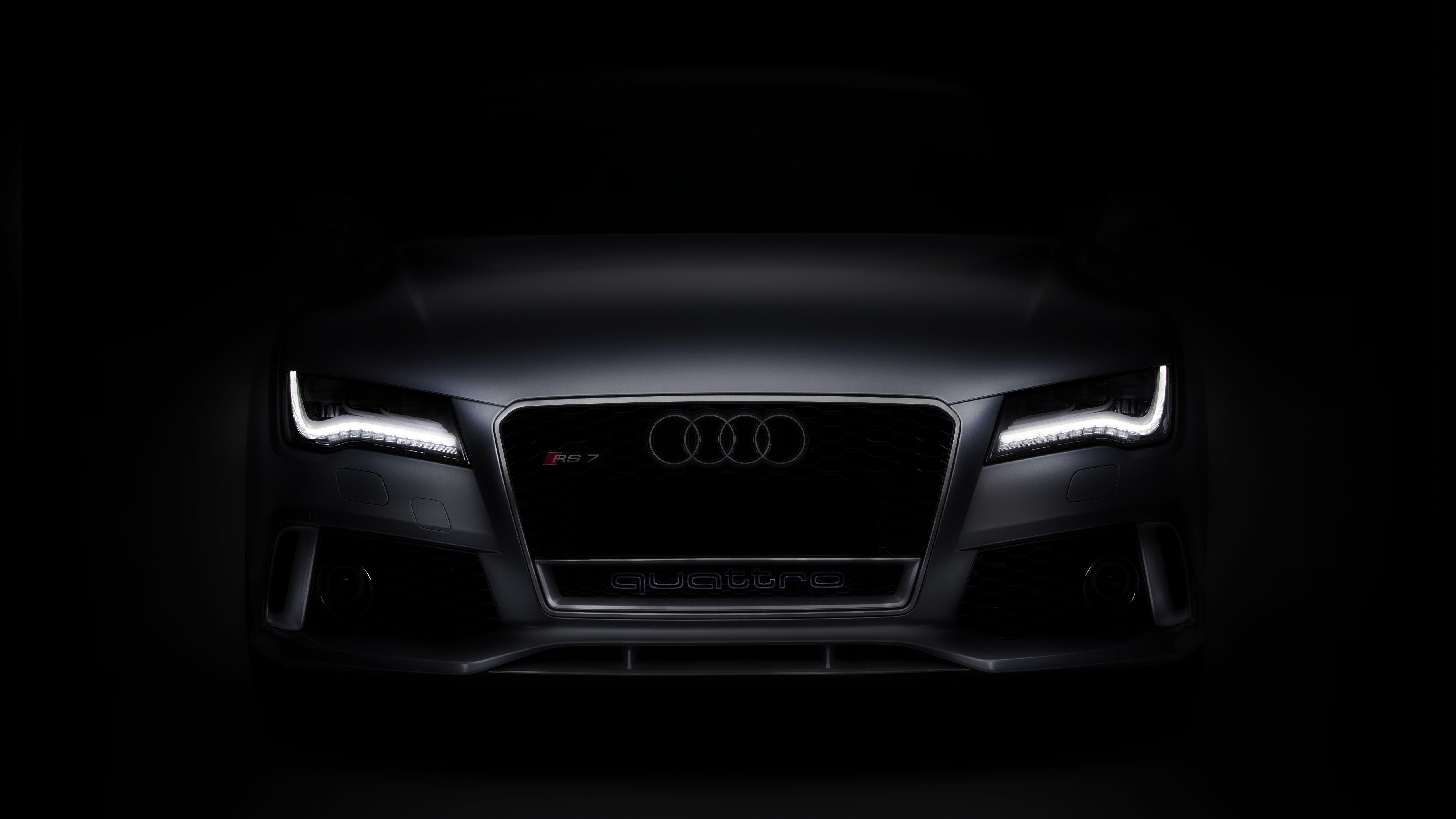 2017 Audi Rs7 4k Wallpaper Audi Rs7 Black Car