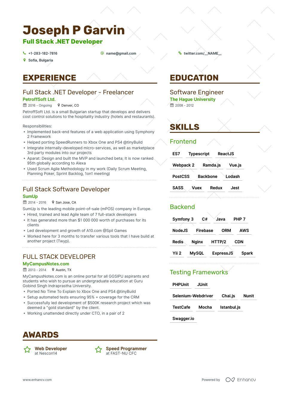 Full Stack Developer Resume Example Expert Tips Full Stack Developer Full Stack Resume Examples