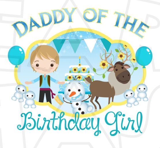 Daddy of the birthday girl Frozen Fever INSTANT DOWNLOAD digital clip art DIY for shirt :: My Heart Has Ears