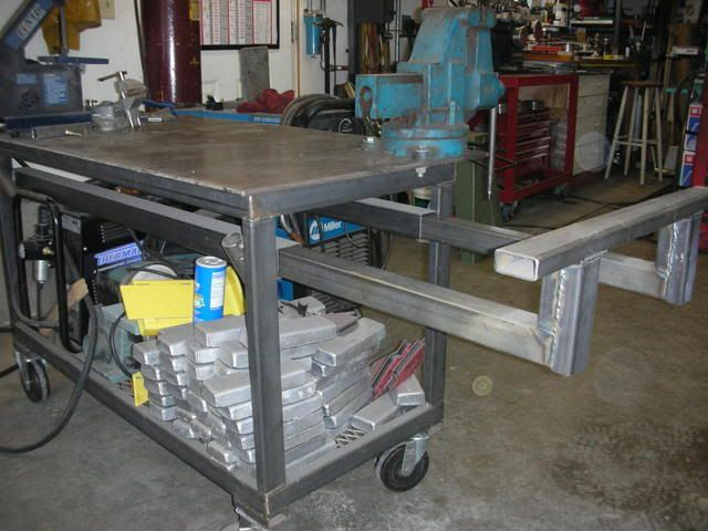 My welding bench is only small but if i add something for Plan fabrication table