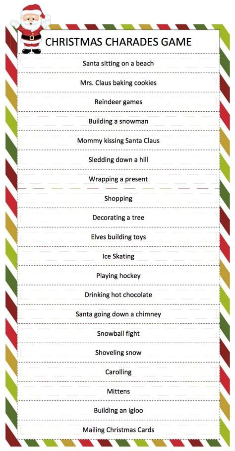 free printable holiday party games