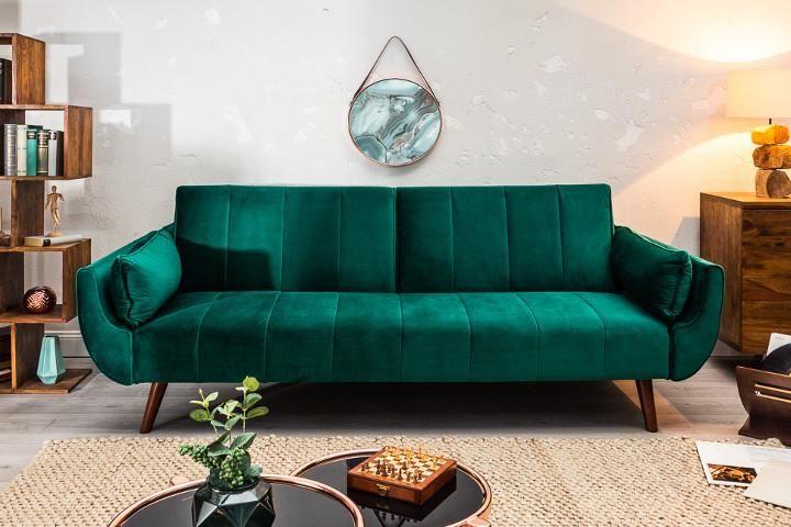 Retro Schlafsofa Bellezza 208cm Smaragdgrun Samt 3 Sitzer Couch Inkl Kissen Riess Ambiente De In 2020 Haus Wohnzimmer Teal Wohnzimmer Wohnzimmer Sofa
