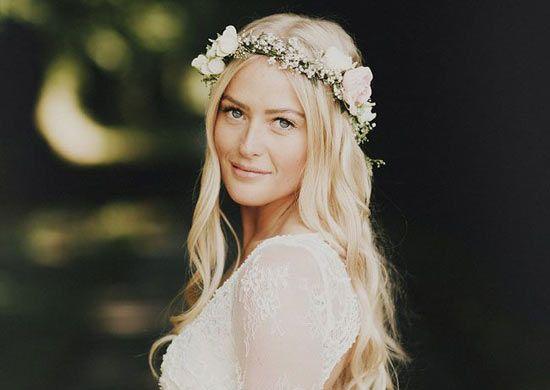 Matrimonio Country Chic Hair : Matrimonio acconciatura sposa country chic bohemien