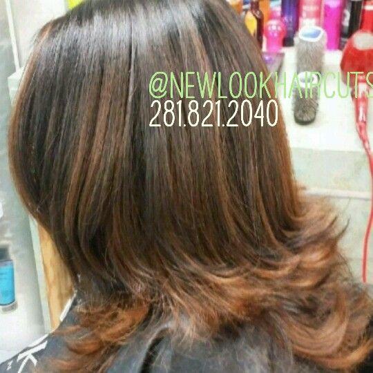 Mocha base with caramel highlights #brunette #haircolorist