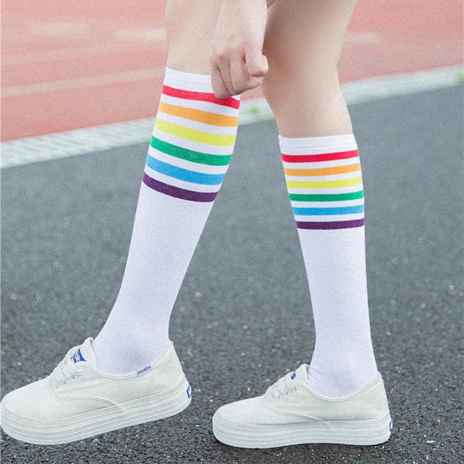 Womens Long Socks Cotton Tube Socks Girls Japan Vintage Comfortable Floral Socks