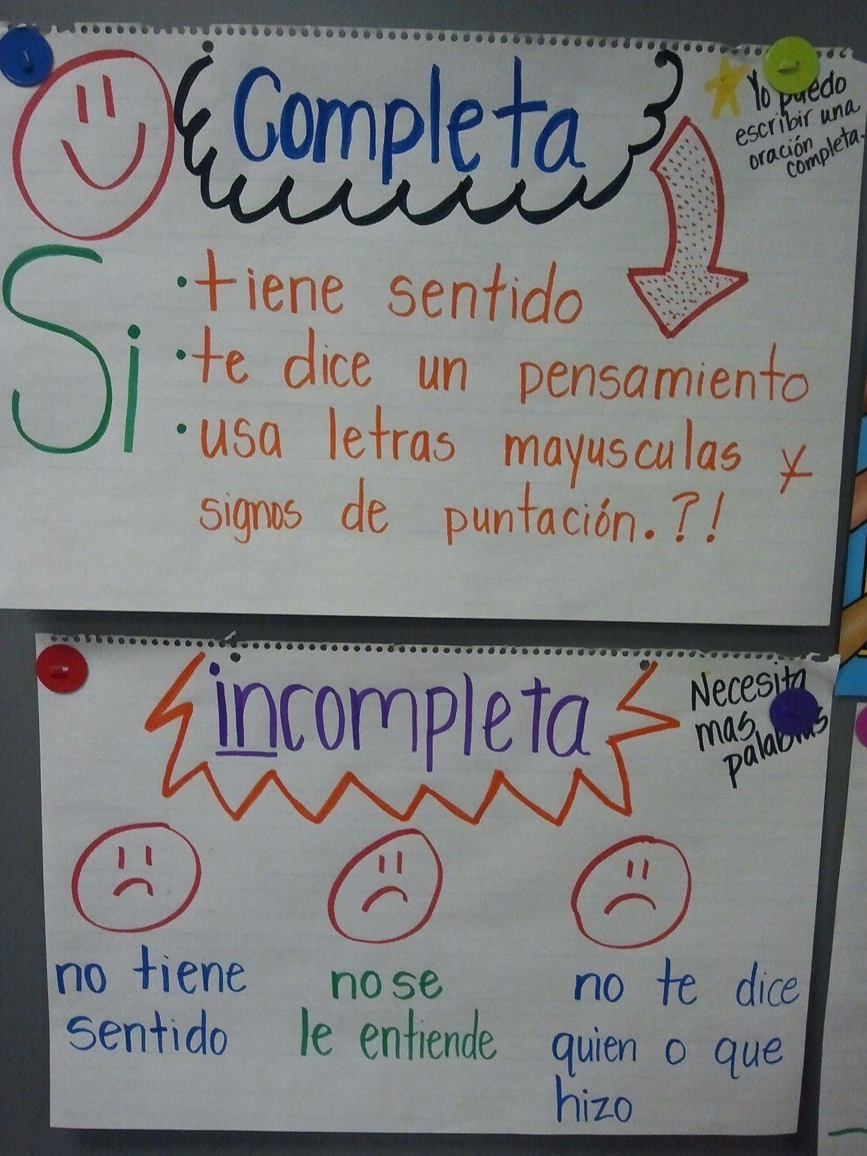 essay sentences in spanish