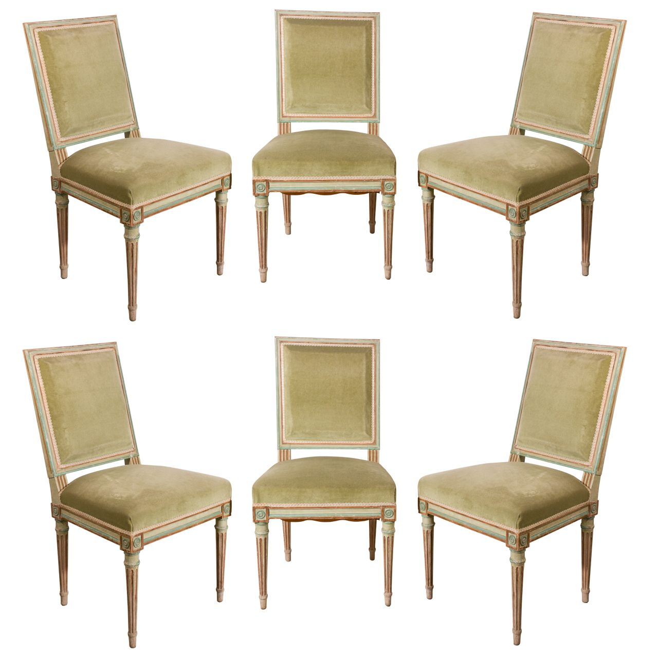 1stdibs Set Of Six Louis Xvi Dining Chairs Dining Chairs