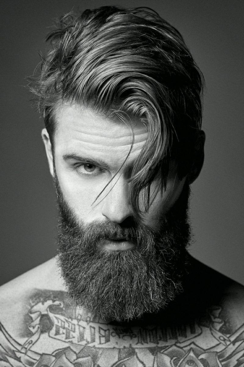 beard hairstyles for confident men: hipster beard in