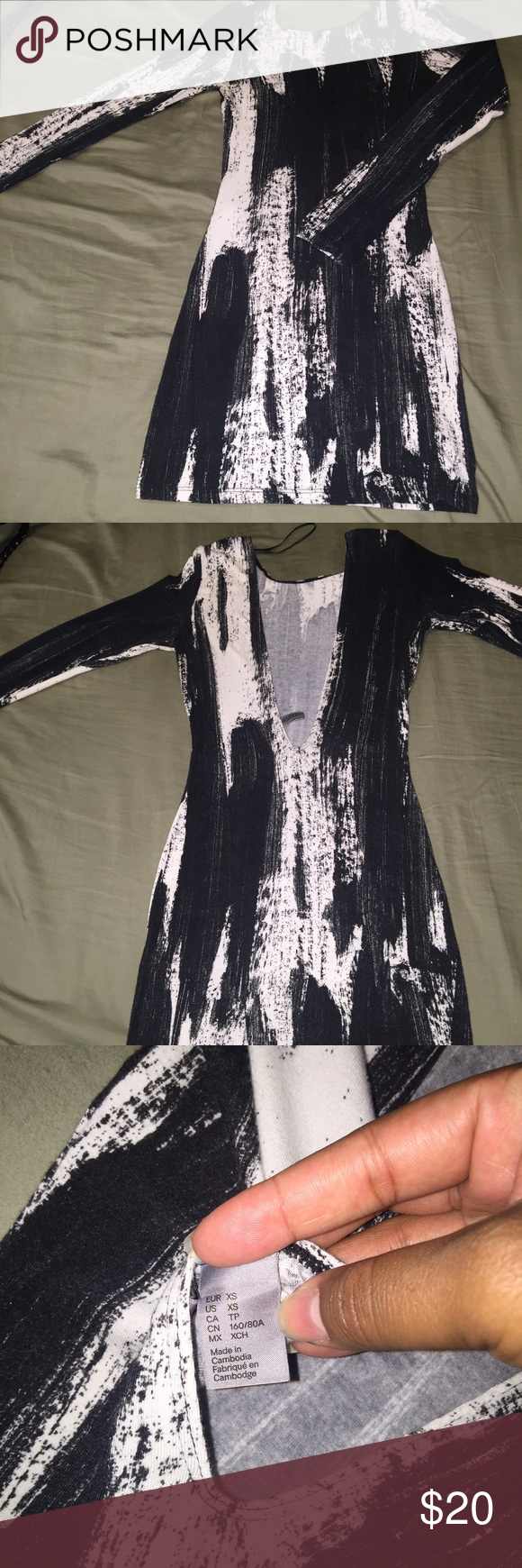 XS H&M mini dress Great condition! Worn once H&M Dresses Mini