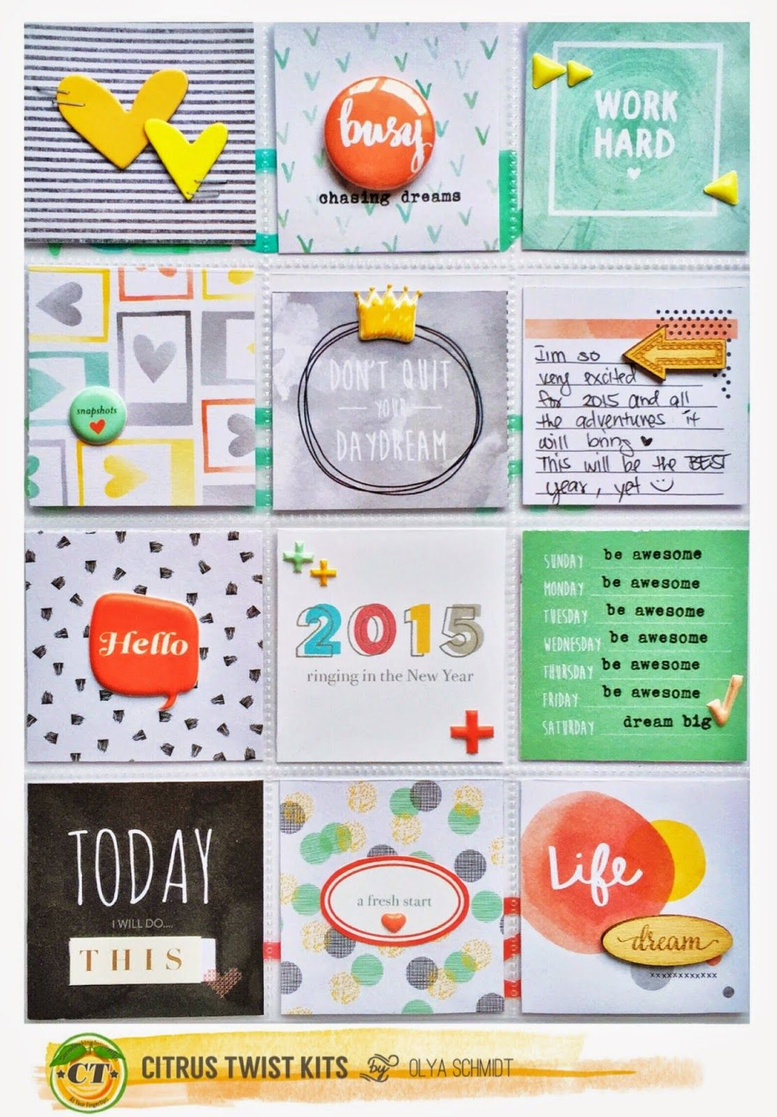 Citrus twist kits pocket life with olya project life pinterest