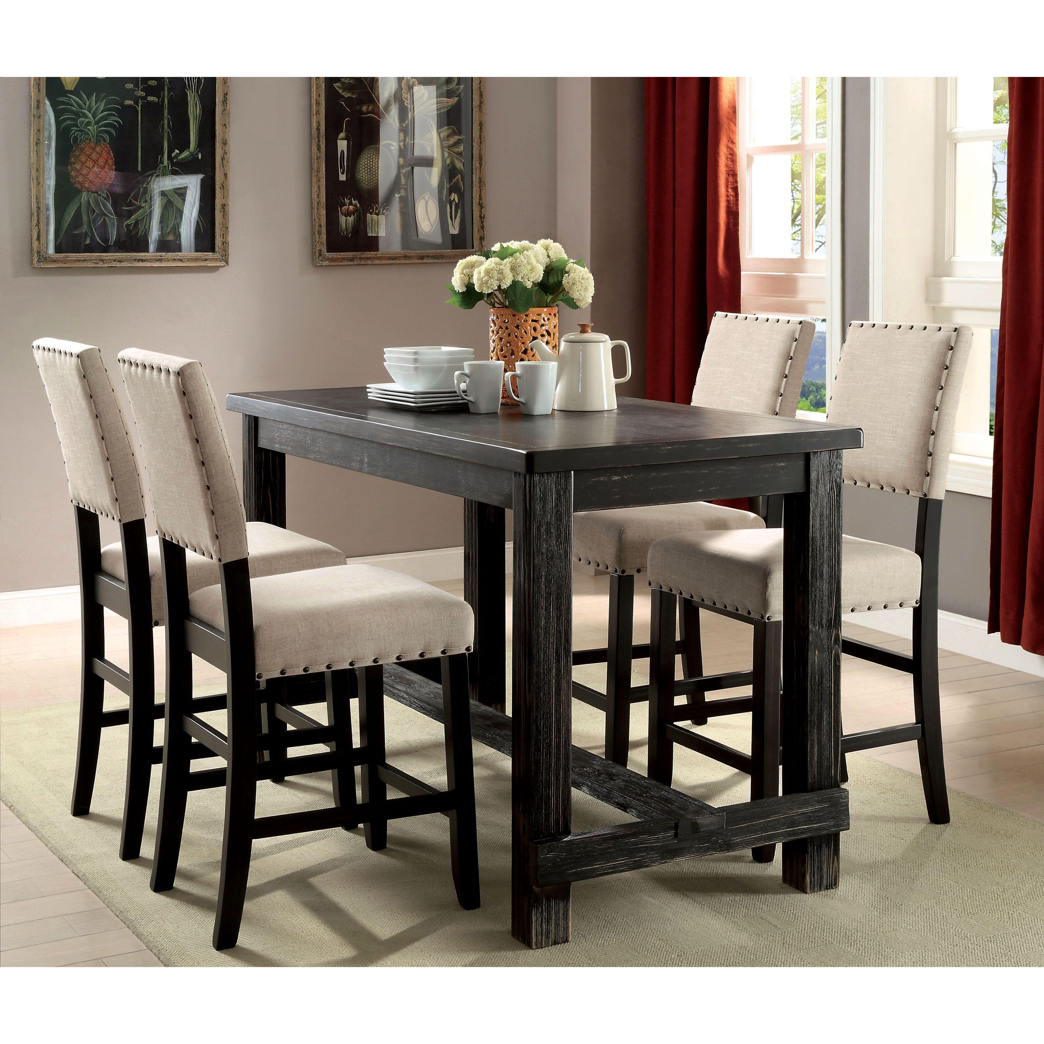 furniture of america telara contemporary antique black 25 inch