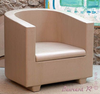 fauteuil carton de type demi cylindrique meuble en carton pinterest cardboard furniture. Black Bedroom Furniture Sets. Home Design Ideas