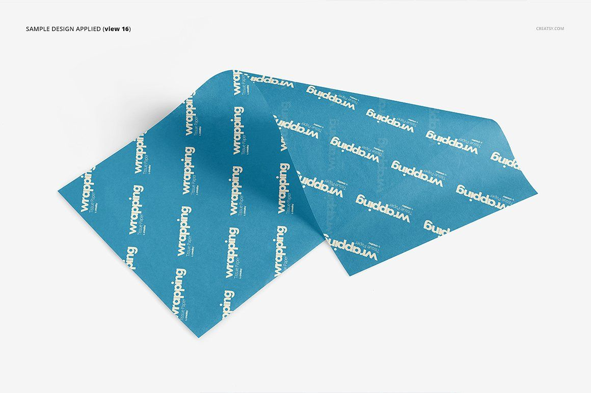 Wrapping Tissue Paper Mockup Set Paper Mockup Printing On Tissue Paper Paper Logo