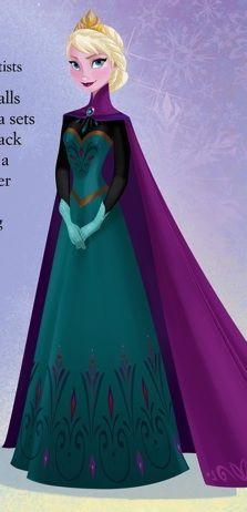Elsa in her coronation dress.