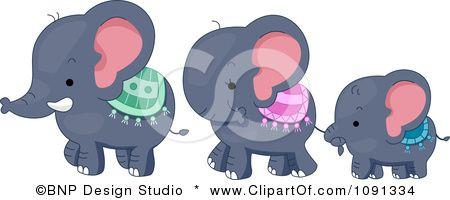 Cute Elephant Family Clipart - FamilyScopes