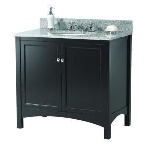 "4450 Foremost TREA3622 Haven 36"" Vanity Cabinet Only, Espresso"