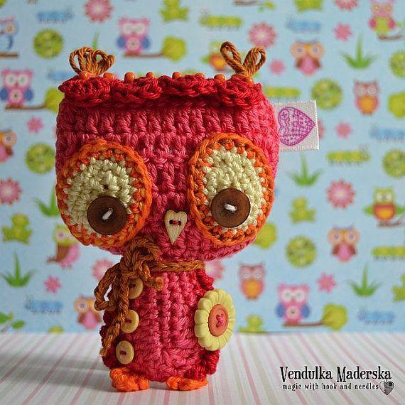 Crochet owl ornament / pendant / hanger pattern | Los buhos ...