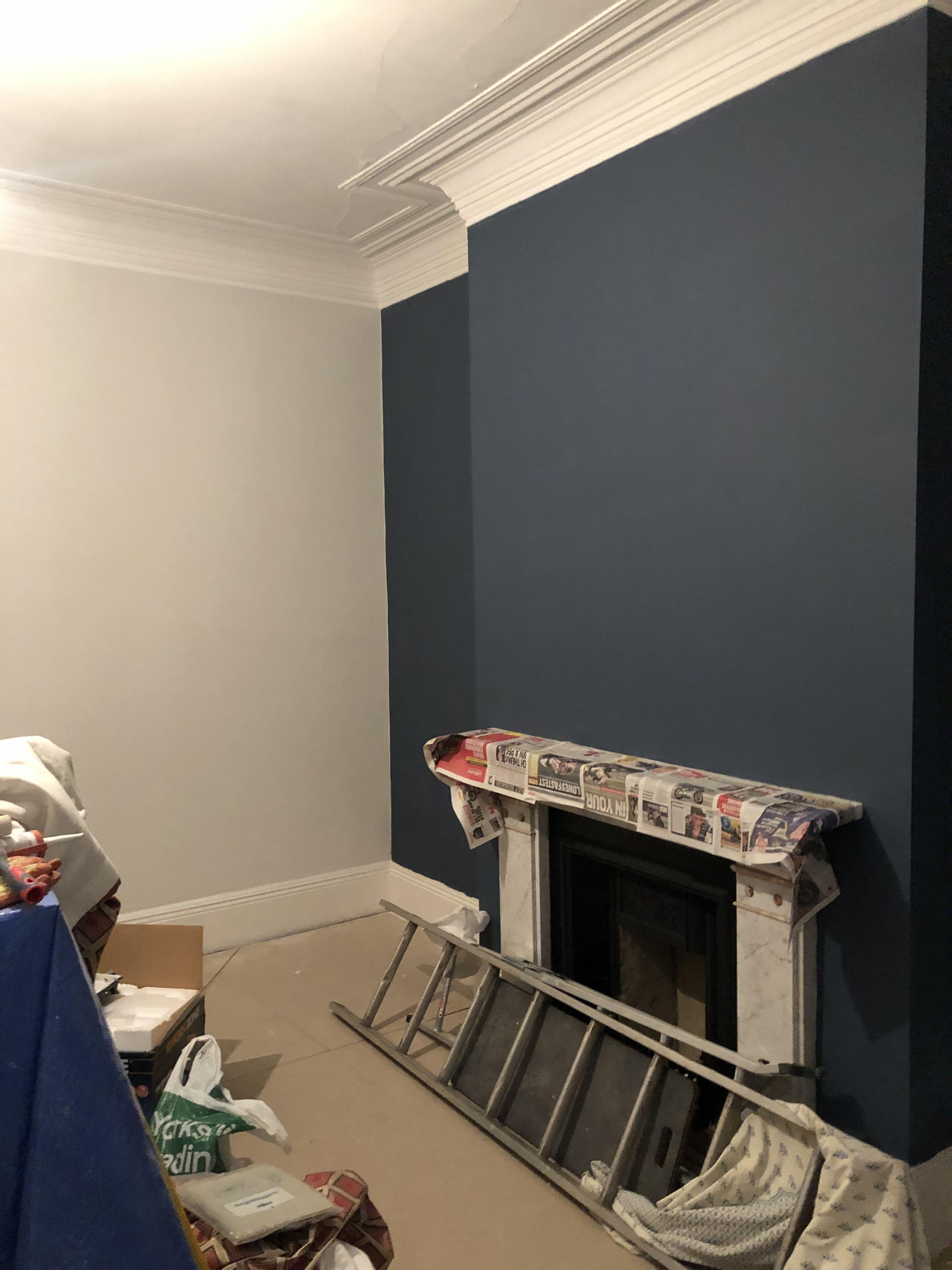 Stiffkey blue and amonite grey living room farrow and ball ...