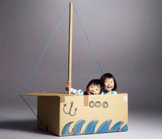 Bricolage e Decoração: Mais de 16 Ideias para Reciclar Caixas de Papelão e Rolos de Papel e fazer brinquedos para os seus filhos!