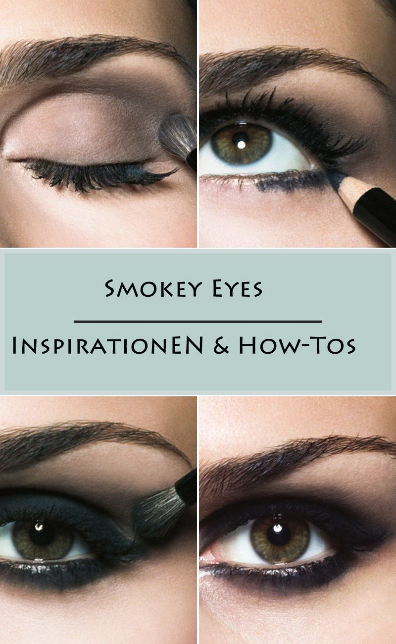 smokey eyes anleitung schritt f r schritt mit bildern smokey eyes co pinterest make up. Black Bedroom Furniture Sets. Home Design Ideas