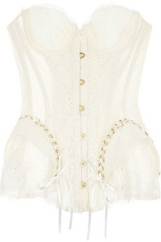 f4db3bfb6c Agent Provocateur Raphaella lace and tulle corset