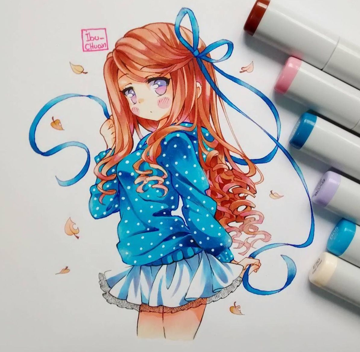 dessin manga colore