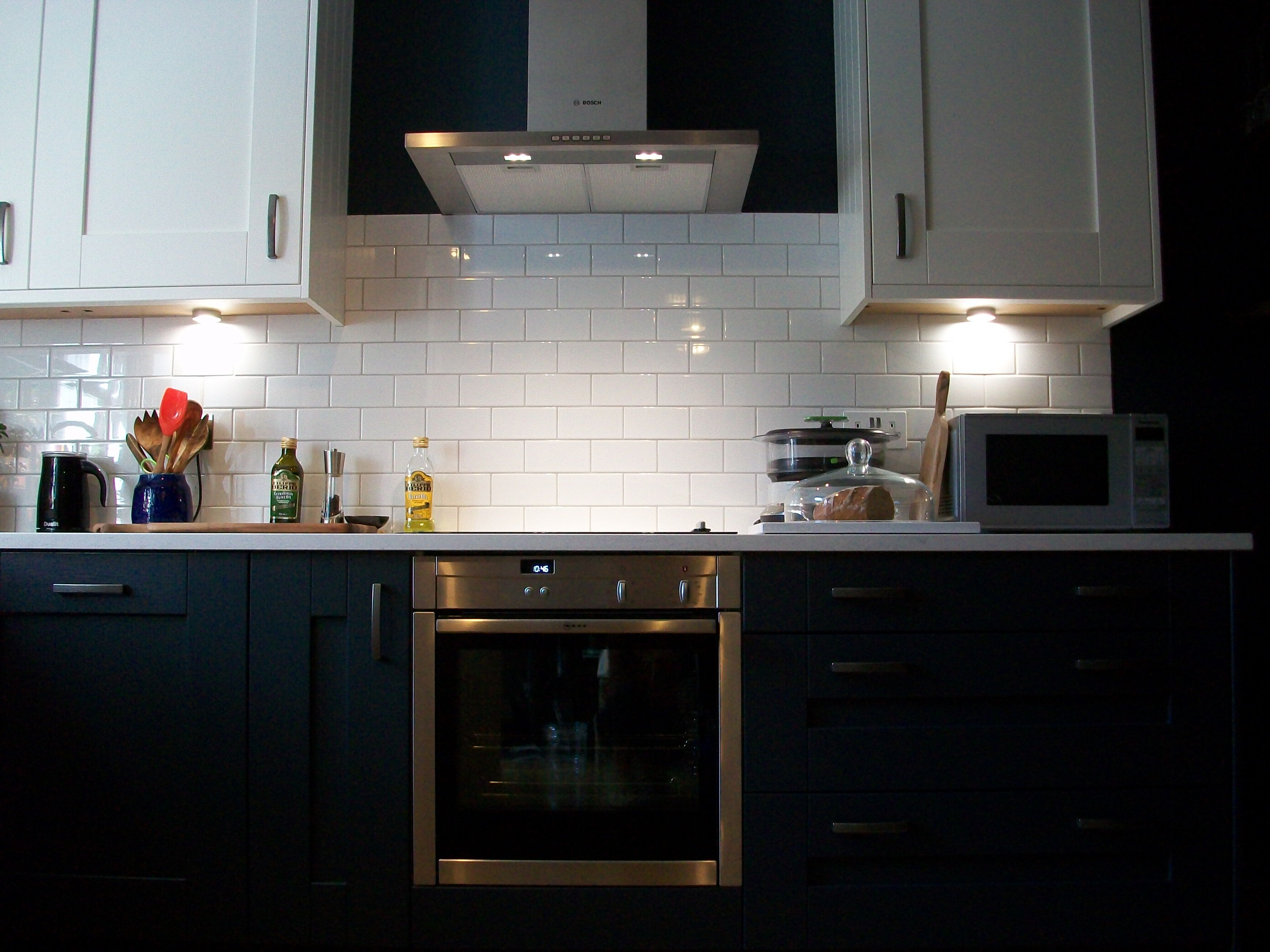 kitchen reveal contrasting cabinets: white vs dark ...