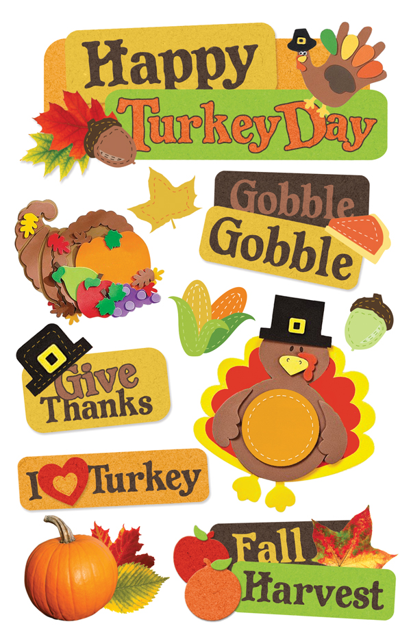 Paper House Production Give Thanks 3D Stickers