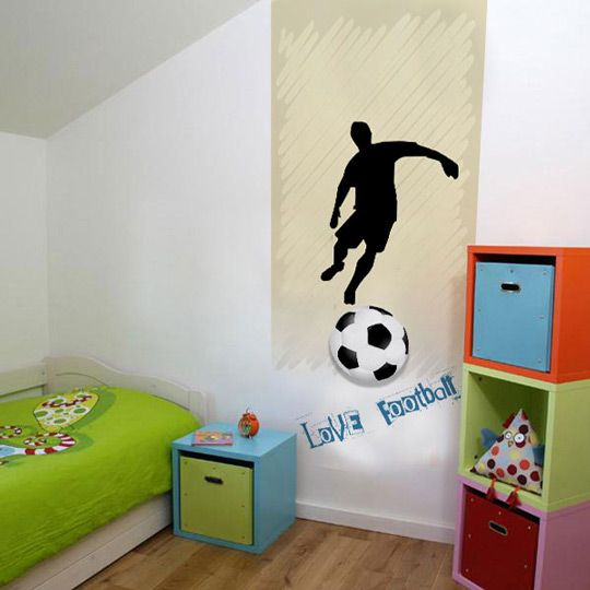 Murales de f tbol para ni os habitaciones tematicas murales futbol en 2019 wall design - Habitaciones tematicas para ninos ...