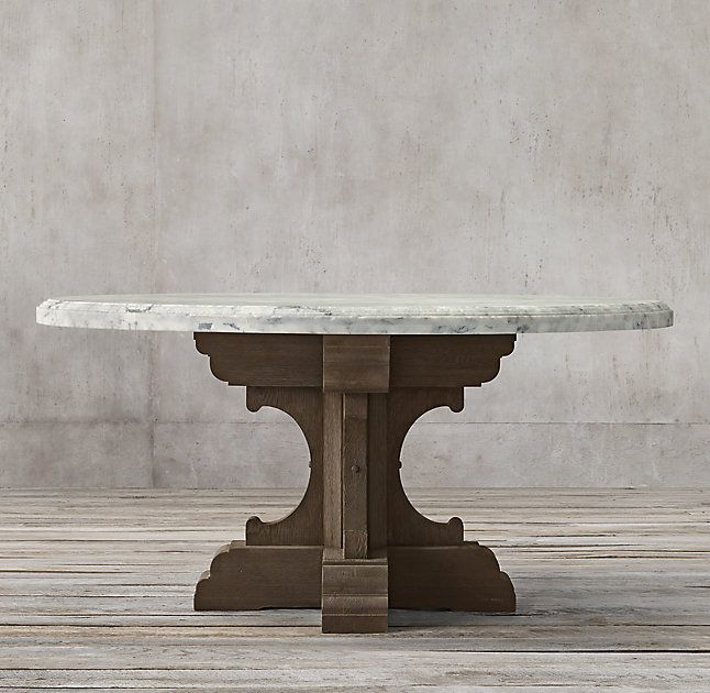 17th C French Bastide Oak Marble Round Dining Table Dining Table Marble Round Marble Dining Table Round Dining Table