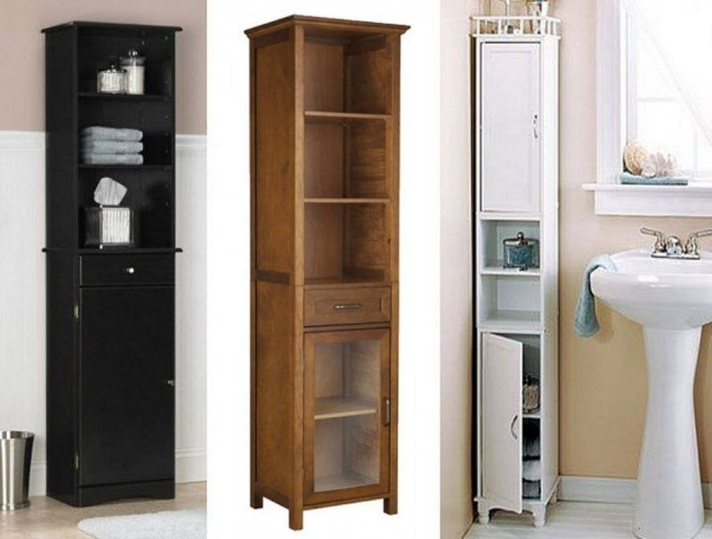 Narrow Pantry Cabinet Ideas On Foter In 2021 Tall Bathroom Storage Bathroom Floor Cabinets Small Bathroom Storage